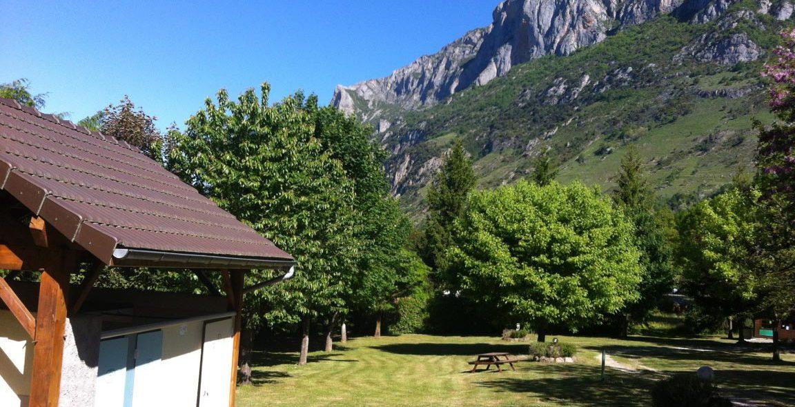 Camping Ariège vue montagne